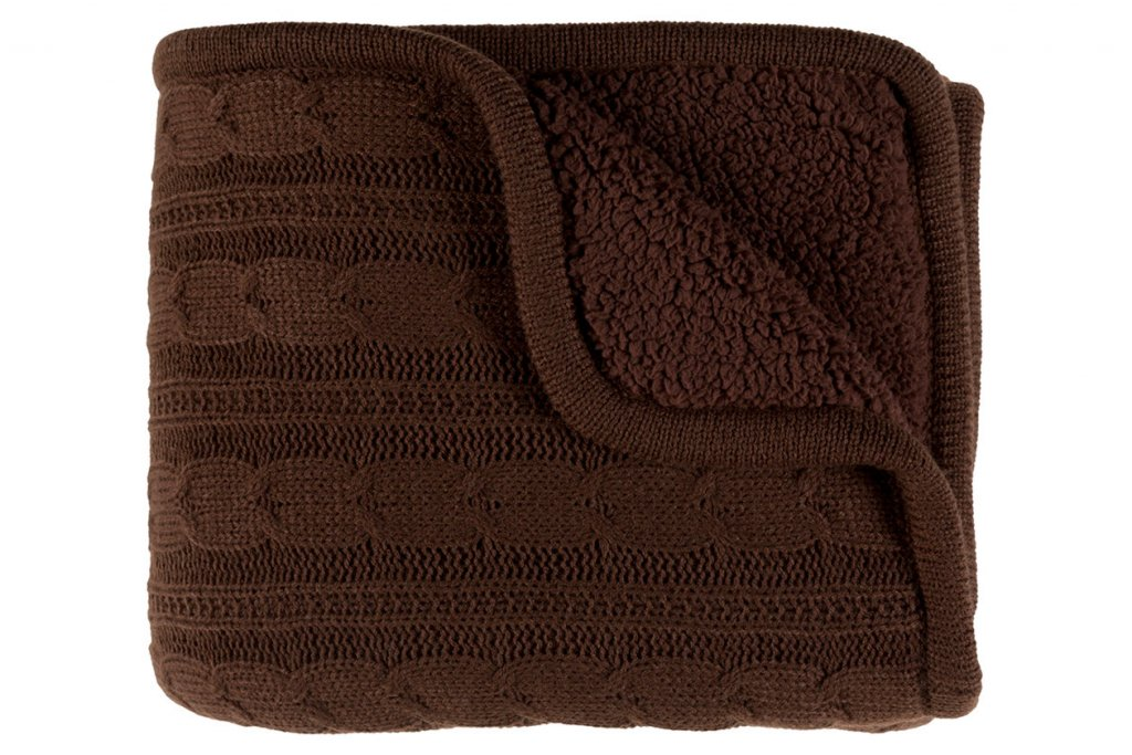 brown winter throw blanket