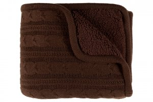 brown winter throw blanket