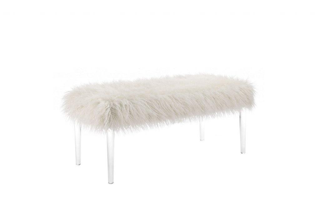 white bench