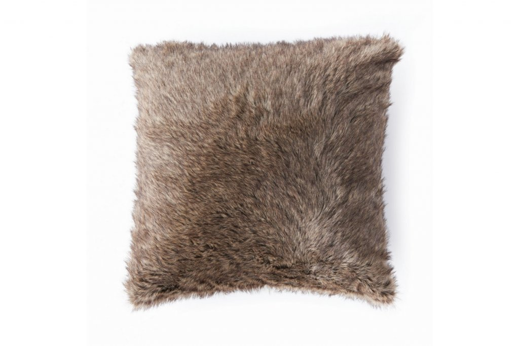 faux fur winter pillow