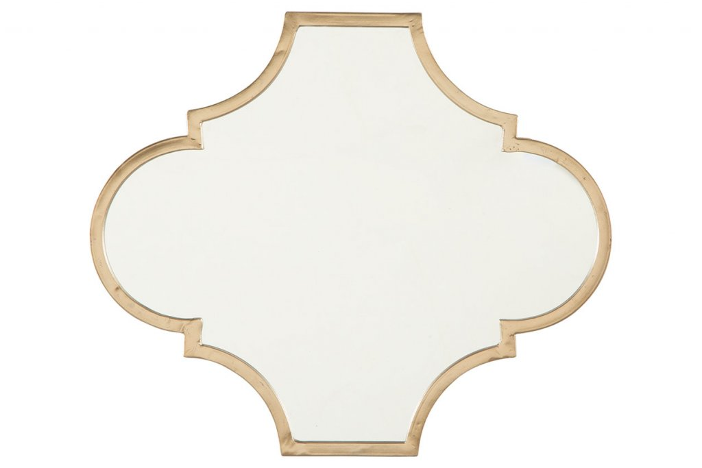 mirror with gold border