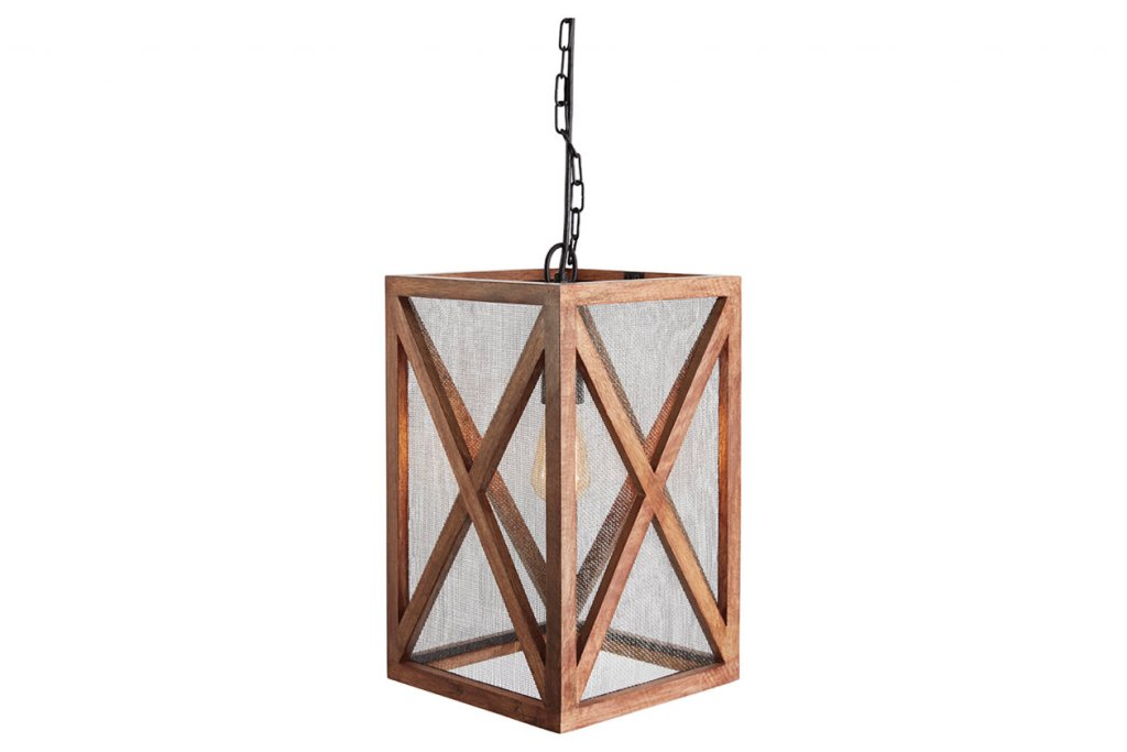 wooden light fixture