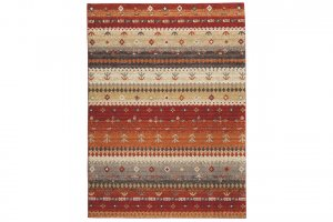 red and brown winter rug