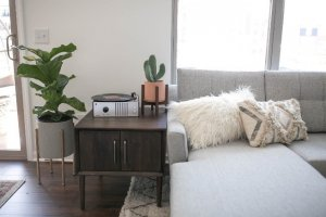 couch and end table
