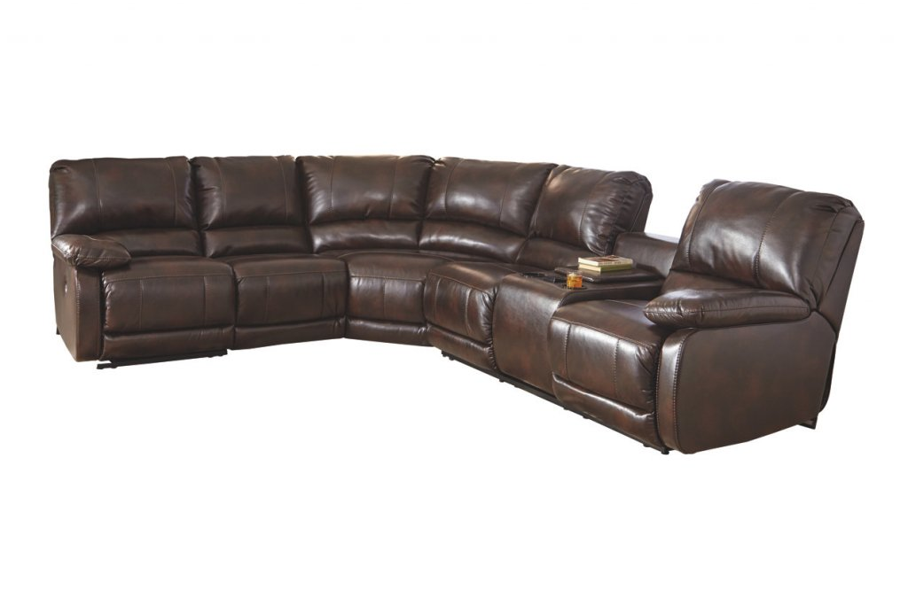 brown sectional for man cave