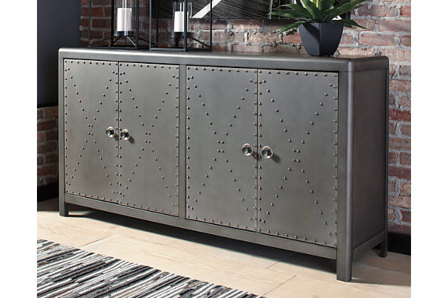 accent cabinet metal