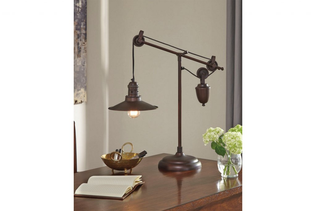 brown desk lamp