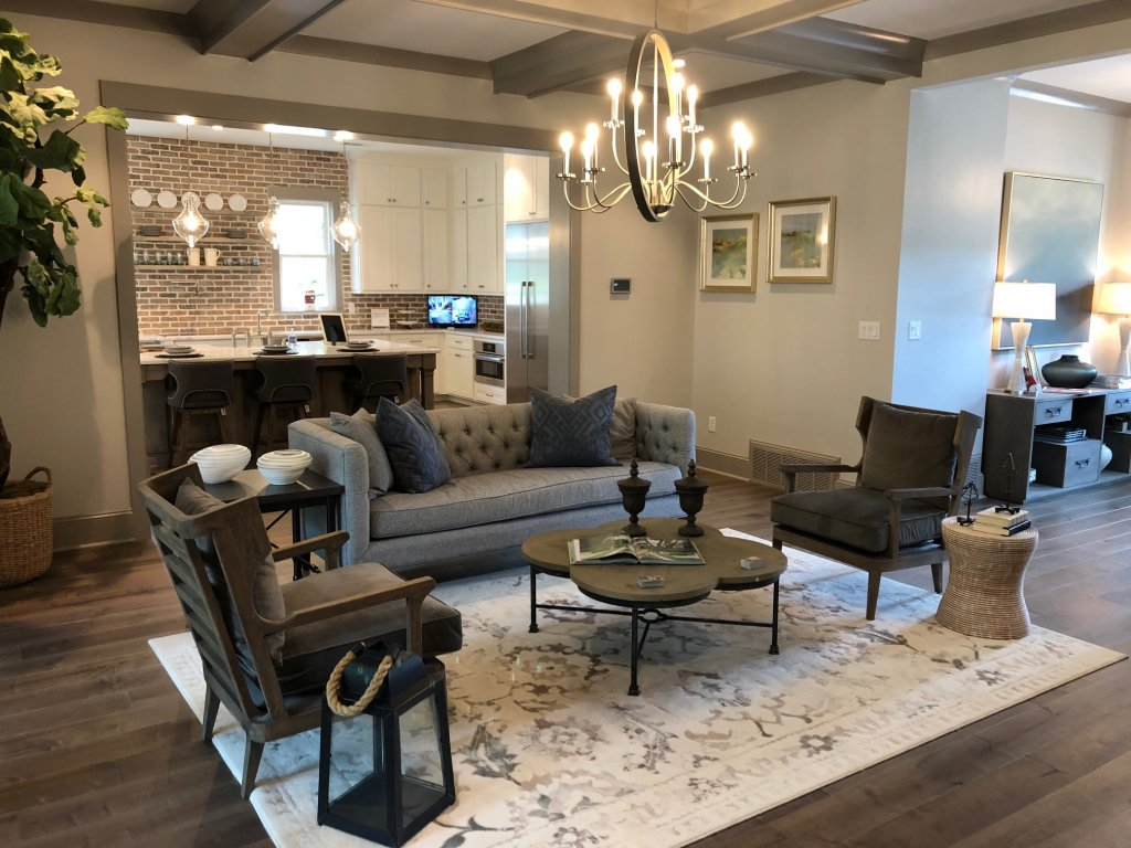 Ashley HomeStore living room for St. Jude Dream Home Giveaway