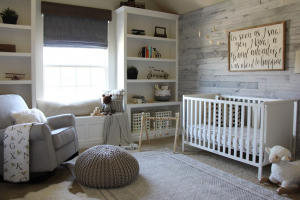 Nursery with removable paneling.