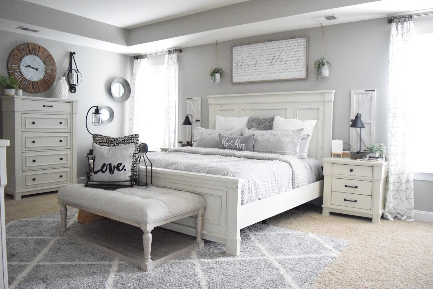 Robin Long Personalizes Master Bedroom with Love  Ashley HomeStore