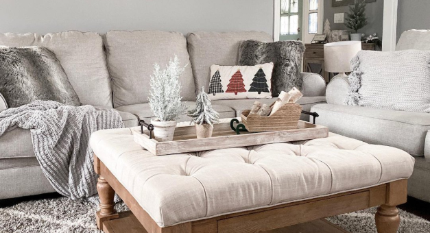 Neutral winter-themed room